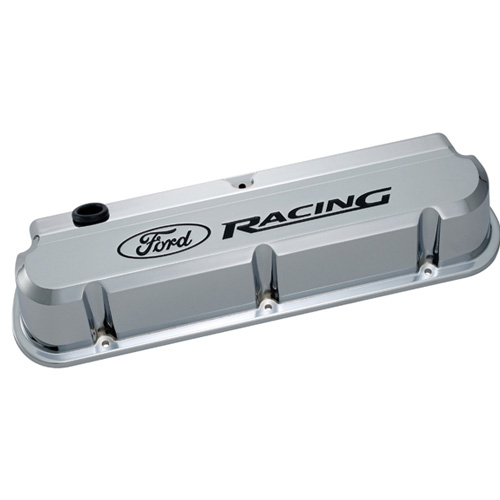 FORD RACING 289-351 SLANT EDGE VALVE COVER CHROME