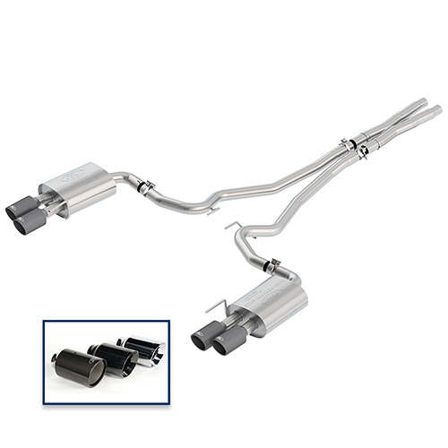 2018-2019 MUSTANG GT 5.0L CAT-BACK SPORT EXHAUST SYSTEM - CARBON FIBER TIPS