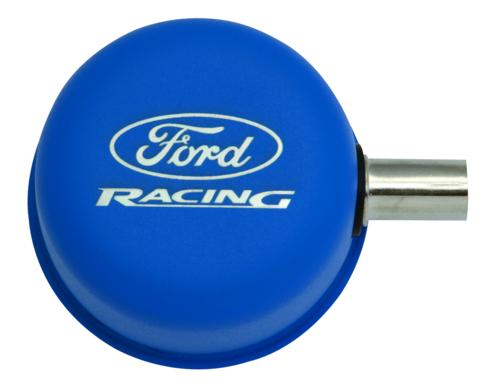 BLUE  BREATHER CAP W/ FORD RACING LOGO